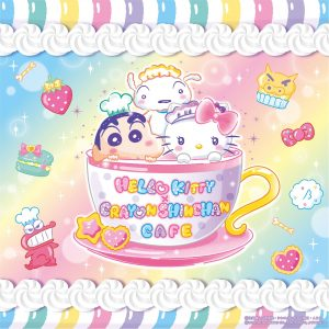 HELLO KITTY × CRAYON SHINCHAN CAFE