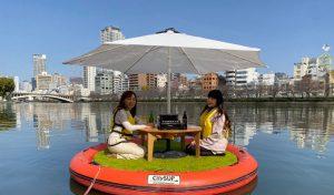 まちなか水辺で水上ピクニック