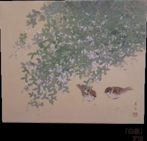 河本真里 日本画展 小さな出会い